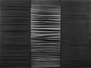 Peinture 181 x 244 cm, 25 février 2009, triptyque, acrylique sur toile, collection de l'artiste