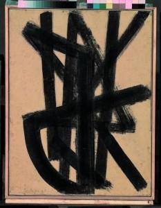 Pierre Soulages, Brou de noix 65 x 50 cm, 1948. Collection Centre Pompidou, Musée national d'art moderne, Diffusion RMN © Adagp, Paris 2009