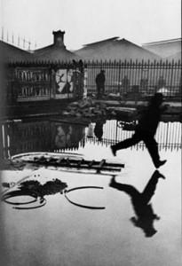 "Henri Cartier-Bresson Behind the Gare St. Lazare Paris, 1932 20 x16"" silver print, pr. later"