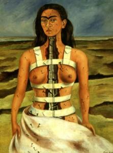 La colonne Brisée, 1944, Frida Kahlo, peinture à l'huile (40 x 34 cm),