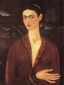 Self Portrait in a Velvet Dress, 1926 by Frida Kahlo
