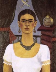 Self portrait time flies - by Frida Kahlo 1929